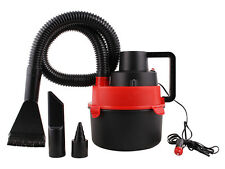 Red Portable 12V Wet & Dry Mini Car Vacuum Boat Canister Cleaner Inflation Pump
