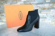 Tods Tod´s Stiefeletten Gr 39 Ankle Booties Stretch Schuhe schwarz neu UVP 490 €