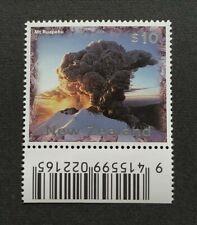 1997 New Zealand Definitive $10 Mt Ruapehu Volcano Eruption 1v Stamp (Barcode)
