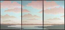 "Scott Nellis ""Vista Grande Green"" Triptych of 3 Signed & Numbered Art Serigraph"