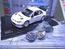 SUBARU Impreza WRC S12B white Rallye Spec white plainbody + Wheelset IXO 1:43