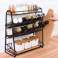 4-Tier kitchen Spice Rack Jars Bottle Holder Storage Organizer Standing Shelf AA
