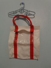 CLARINS RED & WHITE SHOPPING TOTE / BEACH / TRAVEL SHOPPING BAG Canvass