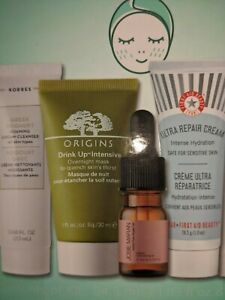 NEW SKINCARE ROUTINE FOR DRY SKIN, 4 PCS, ORIGINS, FIRST AID, KORRES, JOSIE MARA