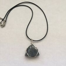 Polished Labradorite Stone Crystal Handmade Wire Wrapped Pendant Necklace