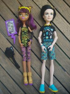 Monster High Doll Lot SAVE FRANKIE Clawdeen Wolf and Jackson Jekyll