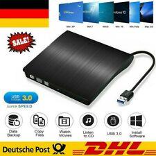 Externes DVD CD Laufwerk USB 3.0 Brenner Slim DVD-RW Brenner für PC Laptop Win10