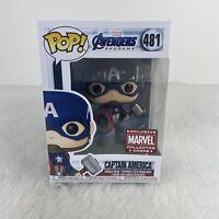 Funko Pop! MARVEL: Avengers Endgame: Captain America 481 Collector Corps Exclus