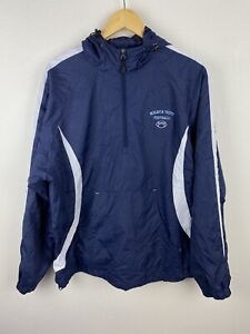 Moravia Youth Football Mens Jumper Size L 1/4 Zip Pullover Embroidered Blue