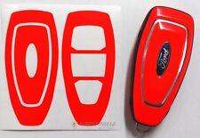 Neon Rot Folie Schlüssel Ford D Focus B-Max C-Max Mondeo Kuga Galaxy Fiesta Key