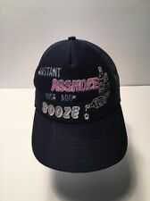 Trucker Hat Baseball Cap Instant A**hole Just Add Booze with pics Adjustable