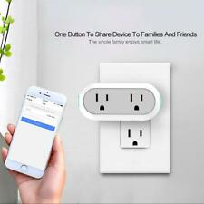 Mini Smart Plug Wifi 2 Outlets Alexa Google Remote Control Timer Switch Plug