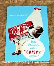 vintage KIT KAT chocolate bar TIN SIGN new retro WALL ART ADVERT kitkat deli 50s