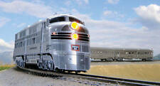 Kato N Scale CB&Q E5A Locomotive and 5 Car Silver Streak Zephyr Set 106090