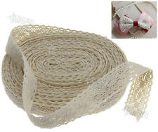 Vintage Lace Bride Wedding Ribbon Craft Cotton Crochet Cotton 12M x 2cm