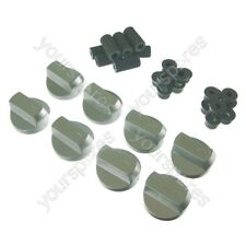 8 X AEG and Ariston Universal Cooker/Oven/Grill Control Knob And Adaptors Silver