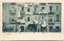 Primi '900 Napoli vista case panni stesi finestre abitanti FP B/N ANIM