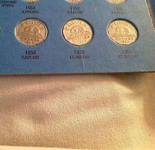 1958, 1959, 1960 Canadian Five Cents, Canada Nickel