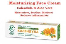 Natural Moisturizing Soothing FACE CREAM - CALENDULA Extract & Aloe Juice, 40 ml