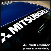 MITSUBISHI Window banner vinyl decal sticker graphic Eclipse EVO 7 8 9 X Lancer