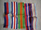 WW2 Australian original medal silk ribbons 39-45 star, F&G star, DM, BWM, ASM.