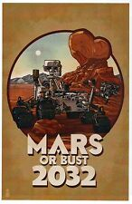 Mars or Bust 2032, Nasa Rover, Martian Rock, Future Mission --- Modern Postcard