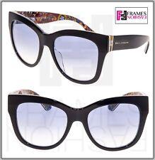 b16fd0330b1 DOLCE   GABBANA Sicilian Carretto 4270 Crystal Black Print Oversized  Sunglasses