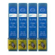 4 Cyan Ink Cartridges for Epson WorkForce WF-3620DWF, WF-7610DWF, WF-7710DWF