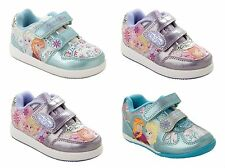 GIRLS DISNEY FROZEN ELSA ANNA CASUAL SHOES CHARACTER TRAINERS KIDS UK SIZE 6-12