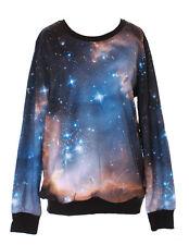 ty-ys-1006 Galaxy estrellas Sky UNIVERSO fantasía azul Jersey Sudadera GOTH