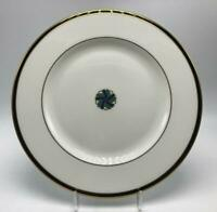 Kelly Gold Accent by Lenox Salad Plate White Green w/ Black Band Gold Trim USA