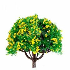 Yellow HO Scale Model Train Scenery and Trees