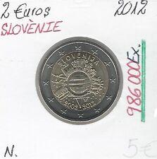 2 Euros - SLOVENIE - 2012 // Qualité: Neuve - 10 ans de circulation (986 000 Ex)