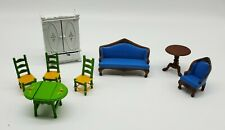 Vtg 1980 Mattel The Littles Dollhouse Furniture Couch Table Chairs Wardrobe Lot