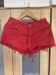 Levi's Vintage 501 Denim Shorts Red W31