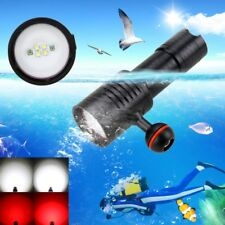 6000lm Xm-l2 LED Scuba Diving Flashlight Photography Torch Lamp Underwater 100m