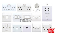 MK Logic Plus Electrical Sockets and Switches White Gloss Moulded USB Full Range