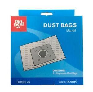 Dirt Devil Genuine Dust Bags for Bandit Vacuum Cleaner DDBBC & DDBC1400 - 5 Pack