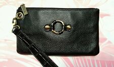 Leather Wallet/Wristlet/Clutch * Clark's * Black * Free Shipping *
