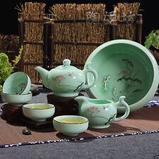 Coffee Sets Celadon zen cup Hand-painted longquan celadon kung fu tea set pots