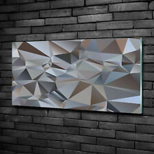 Glass Print Wall Art Image Picture 100x50cm - Abstraction triangles