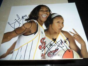TAMIKA CATCHINGS & BRIANN JANUARY AUTOGRAPHED 8X10 PHOTO INDIANA FEVER WNBA