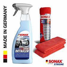 SONAX XTREME BrilliantShine Detailer 750ml + 2x SONAX MicrofaserTücher Außen NEU