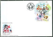 TOGO 2013 BATTLE OF AIDS RED CROSS SHEET FIRST DAY COVER