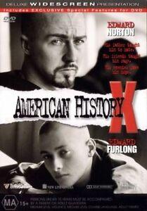 American History X DVD  Region 4 - Edward Furlong, Edward Norton VGC