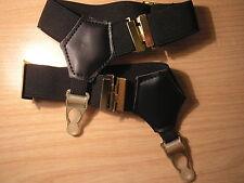Sock garters/suspenders. BLACK.