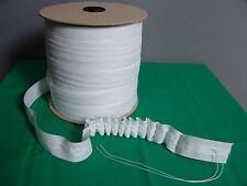 10 Meter Gardinenband / Kräuselband 25 mm breit weiß Neu