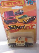 MATCHBOX  PLYMOUTH GRAN FURY  POLICE CAR 10 MIB NEUF BOITE superfast