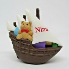 Hallmark Merry Miniatures Discover America Nina Ship with Bear