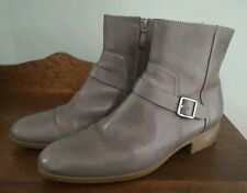 Cole Haan Women's Gray Huntley Waterproof Low Heel Ankle Boot Buckle Size 11 B